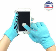 Winter Touch Screen Gloves Smartphone Tablet Pad Women BLUE US Stock