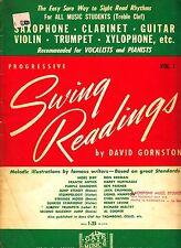 Progressive Swing Readings Vol. 1 David Gornston 1956 Vocalist Piano Treble Clef