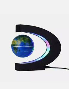 Magnetic Floating Globe Rotating World Map LED Light Home Decor O/C Shape Gift