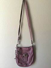NWOT B. MAKOWSKY Purple Pebbled Leather Hobo Cross Body Shoulder Bag Purse