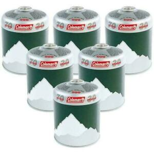 6 x Coleman C500 Resealable Gas Cartridge Butane / Propane mix C500