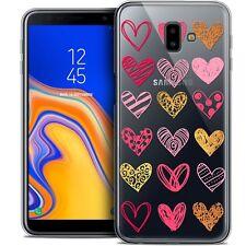 "Coque Gel Pour Samsung Galaxy J6 Plus J6+ (6.4"") Souple Sweetie Doodling Hearts"
