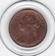 Sharp   1880    Queen  Victoria   Half  Penny  Bronze  Coin