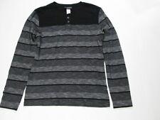 Attention Men's 1/4 Button Down Shirt Size L #B3