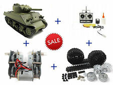 HengLong HL 1:16 M4A3 Sherman Tank with Metal T49 Tracks with Duckbills
