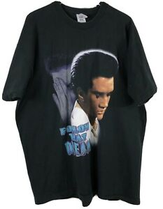 Elvis Presley T-Shirt Follow That Dream Fruit Loom Tag Black Size XXXL - Vintage