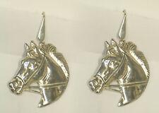 Orecchini con CAVALLO in Argento 925 - pendenti con amo - Equitazione