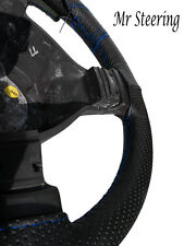 Per FIAT DOBLO 100% vera pelle perforata Volante Copertura Cuciture Blu