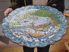 China bronze Cloisonne Enamel Crane Pine tree Sika deer Tray Pallets Dish plate