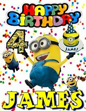Minion Personalized - Birthday T-Shirt Party Favor. Personalized Minion t-shirt