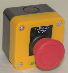 emergency stop button station IP65 dust/splash proof 1x normally closed contact