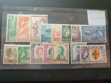 Sarawak 1955/7 definitives, complete set of 15 values, hinged mint