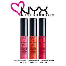 NYX Intense Butter Gloss Set 06 - Pink Macaroon; Summer Fruit; Cherry Custard