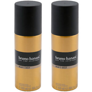 Bruno Banani D'Urgence Pour Everybody Homme ´S Best Déodorant Spray 2 X 150ml