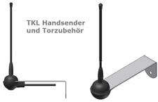 TKL Außenantenne kompatibel zu Schellenberg Handsender 433 MHz Drive Twin Slide