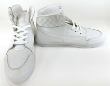 Shmack Shoes Crowbar Leather Hi Stars Athletic White Sneakers Size 13