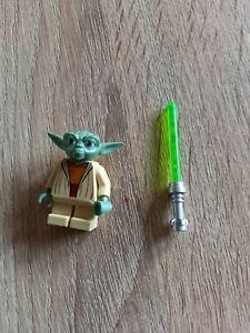 LEGO Star Wars Minifigur Meister Yoda mit Lichtschwert