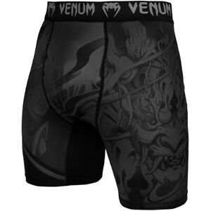 Venum Devil MMA Compression Shorts - Black/Black