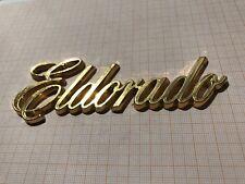 Cadillac Eldorado Schriftzug gold Farbe Kofferraum Emblem Script Trunk Ornament