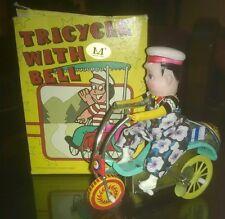 """Giocattoli/Modellismo/D'Epoca""""TRICYCLE WITH BELL""""Triciclo In Latta Con Campanell"""