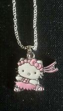 Hello Kitty Ribbon Dancing Ballerina Pink  Pendant charm necklace