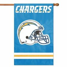 LOS ANGELES CHARGERS House Banner Flag PREMIUM Outdoor DOUBLE SIDED Embroidered