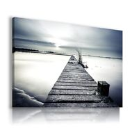 SUNSET BEACH PIER PERFECT View Canvas Wall Art Picture  L267  MATAGA