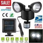 Solar Power Motion Sensor Light Dual Head 22 LED Security Floodlight Outdoor USA