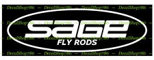 Sage Fishing Rods II - Outdoor Sports - Vinyl Die-Cut Peel N' Stick Decals