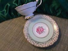 ENGLISH ROYAL STAFFORD charming teacup&saucer HEAVENLY MINT - Fine  Bone China