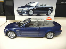 BMW M3 E46 Convertible blue Kyosho 1:18 SHIPPING FREE