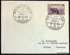ARGELIA 1956 CARTA ORAN LA CIUDAD EL PUERTO DE SOBRE 165CA142