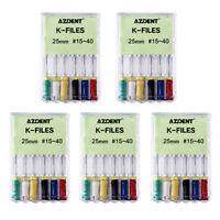 K-FILES 6Pc/Kit Dental NITI Root Canal Endodontics 25mm #15-40 Hand Use File TOP