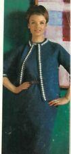 1950s Pencil Dress 3/4 Sleeve Jacket Suit Patons Knitting Pattern PDF