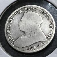 1893 GREAT BRITAIN SILVER SHILLING QUEEN VICTORIA