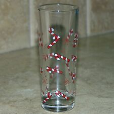 Christmas Candy Cane and Snowflakes Tall Shot Glass