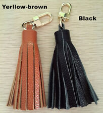 Handmade Genuine Leather Tassel Pendant Mobile/Bag Key Chains Bag Accessories