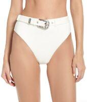 Onia Womens Emily Snow White Bikini Bottoms Swimwear Size Large 237371