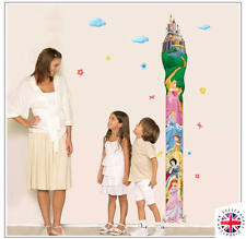 NURSERY HEIGHT GROWTH CHART Wall Sticker KIDS BOYS GIRLS DISNEY PRINCESS