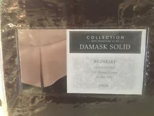 """Charter Club Damask Stripe Collection 500 CT 16"""" drop TwinBed Skirt  Chocolate"""