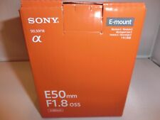 Brand New Sony  E 50mm F1.8 OSS SEL50F18 Lens BK for Sony APS-C E mount Cameras