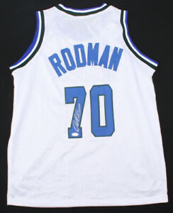 Dennis Rodman Signed Dallas Mavericks Jersey (JSA COA) 5xNBA Champion / Forward
