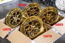 18x9.5/10.5 Aodhan DS01 5x114.3 +15/22 Gold Vaccum Rims Fits 350Z 370Z G35 240sx