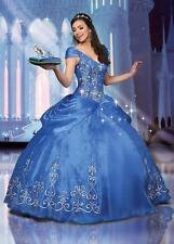 New Cinderella Girl Embroidery Princess Quinceanera Dress Prom Party Ball Gown