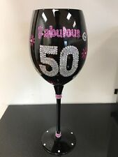 Fabulous 50 Wine Glass - Great gift for 50th BIRTHDAY !!!