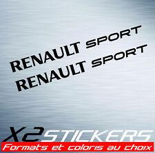 Stickers Renault Sport X2 autocollants PRO - tableau de bord - carrosserie - RS