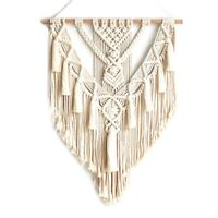 Macrame Wall Hanging Tapestry Wall Decor Boho Chic Bohemian Woven Home Deco G1N6