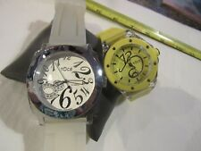 2 Tocs Watch Analog Watches Silicon Band  YELLOW AND WHITE F67