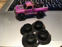 x5 sets of 1/64 4x4 hot wheels scale Dirt tyres 3d printed Gaslands rally