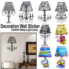 Flowers And Cartoons LED Nightlight Wall Decor with sound sensor Sticker Home